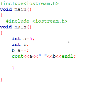 example 1 operators in c++