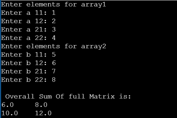sum of two arrays 2
