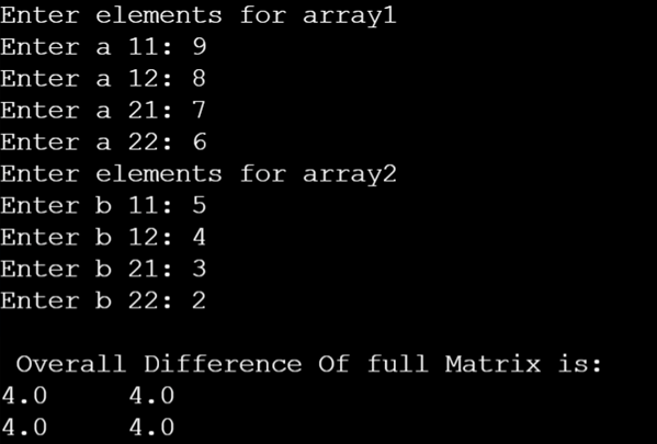 sum of two arrays 3