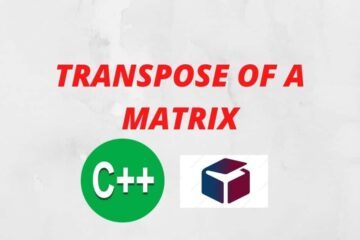 transpose of the matrix in featured