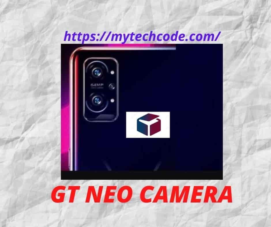 Realme GT Neo Gaming camera